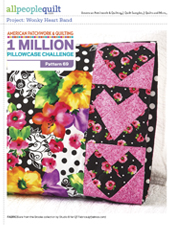APQ -1 Million Pillowcase Challenge - Free Patterns : all people quilt pillowcase - Adamdwight.com